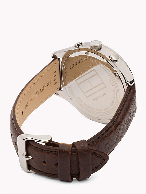 TOMMY HILFIGER Tachymeter Leather Strap Watch - BROWN - TOMMY HILFIGER Watches - detail image 1