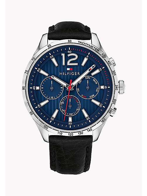 TOMMY HILFIGER Tachymeter Round Watch - BLACK - TOMMY HILFIGER Watches & Jewelry - main image