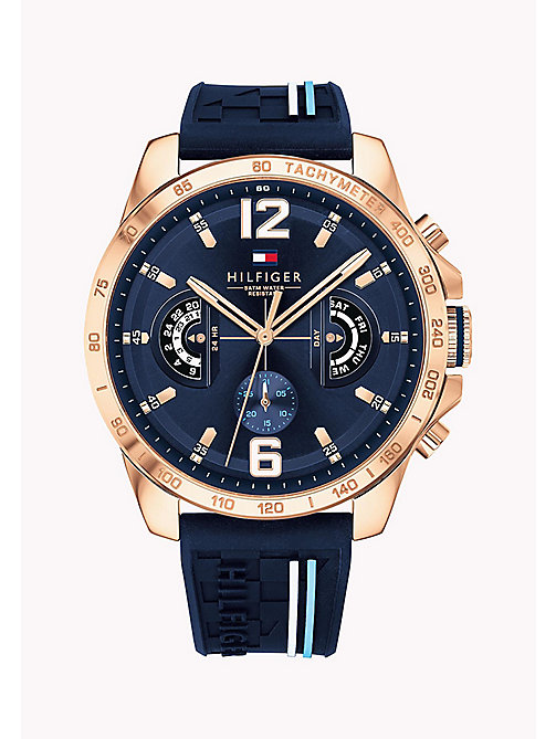 TOMMY HILFIGER Water-Resistant Tachymeter Watch - BLUE - TOMMY HILFIGER Watches - main image