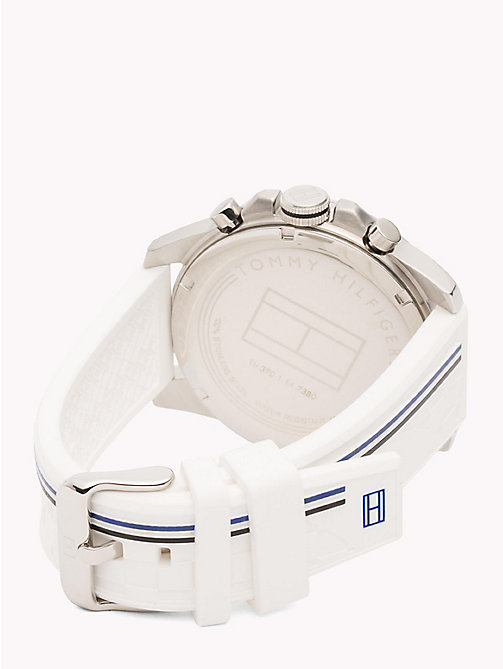TOMMY HILFIGER Stainless Steel Racing Watch - WHITE - TOMMY HILFIGER Watches - detail image 1