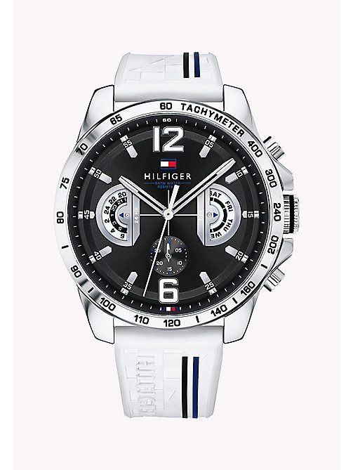 TOMMY HILFIGER Stainless Steel Racing Watch - WHITE - TOMMY HILFIGER Watches - main image