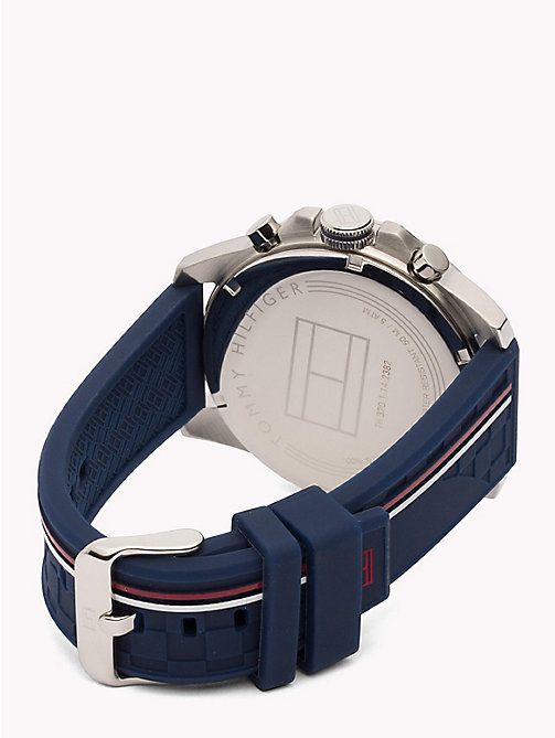 TOMMY HILFIGER Waterdicht horloge met signature-band - BLUE - TOMMY HILFIGER Horloges - detail image 1