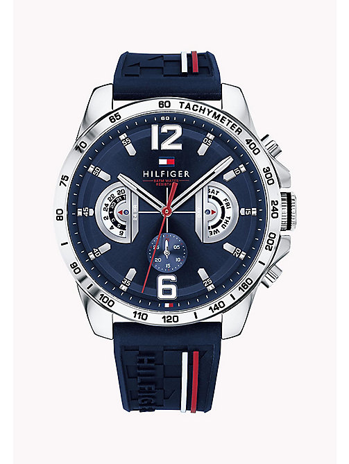 TOMMY HILFIGER Signature Strap Water-Resistant Watch - BLUE - TOMMY HILFIGER Watches - main image