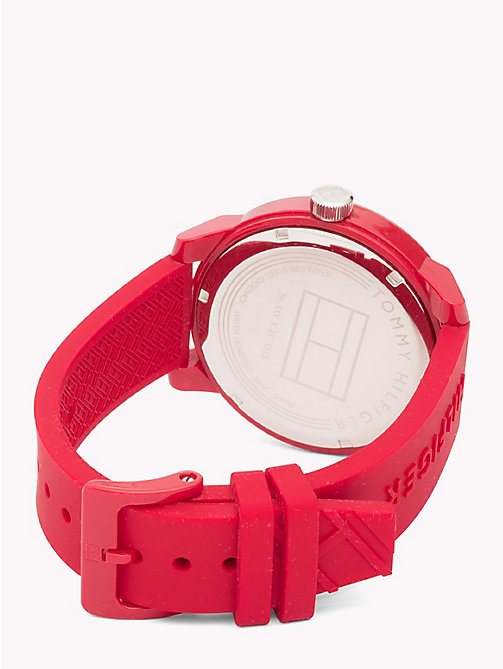TOMMY HILFIGER Silicone Statement Watch - RED - TOMMY HILFIGER Bags & Accessories - detail image 1