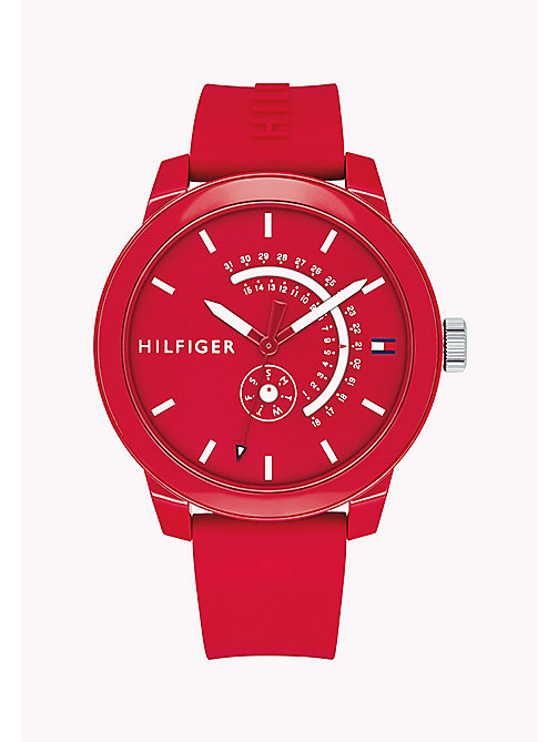 TOMMY HILFIGER Silicone Statement Watch - RED - TOMMY HILFIGER Bags & Accessories - main image