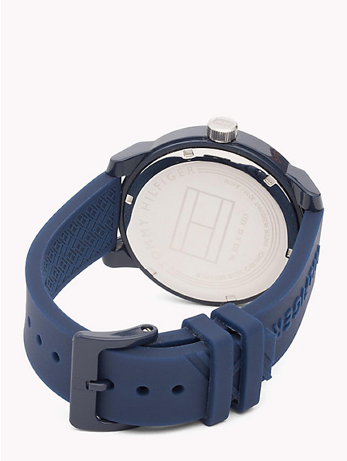 TOMMY HILFIGER Embossed Analogue Watch - NAVY - TOMMY HILFIGER Watches - detail image 1