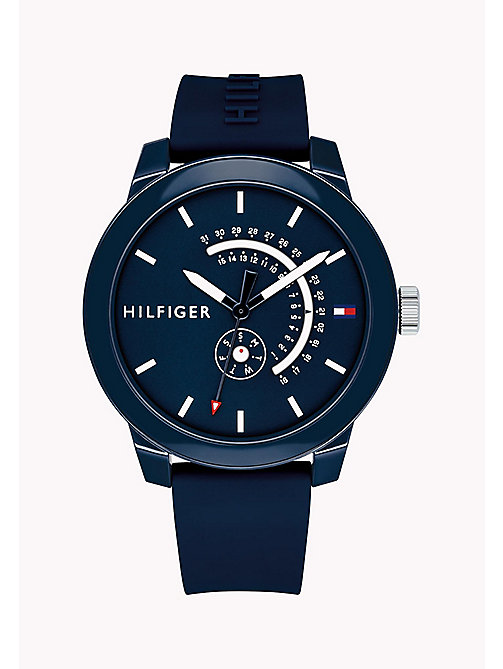TOMMY HILFIGER Embossed Analogue Watch - NAVY - TOMMY HILFIGER Watches - main image