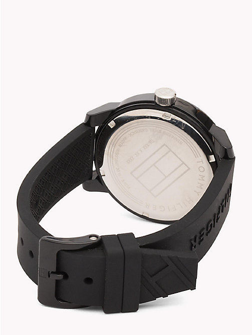 TOMMY HILFIGER Embossed Strap Analogue Watch - BLACK - TOMMY HILFIGER Watches & Jewelry - detail image 1