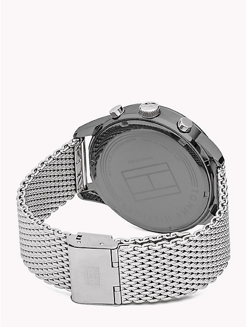 TOMMY HILFIGER Mesh Chain Dark Dial Watch - STAINLESS STEEL - TOMMY HILFIGER Watches & Jewelry - detail image 1