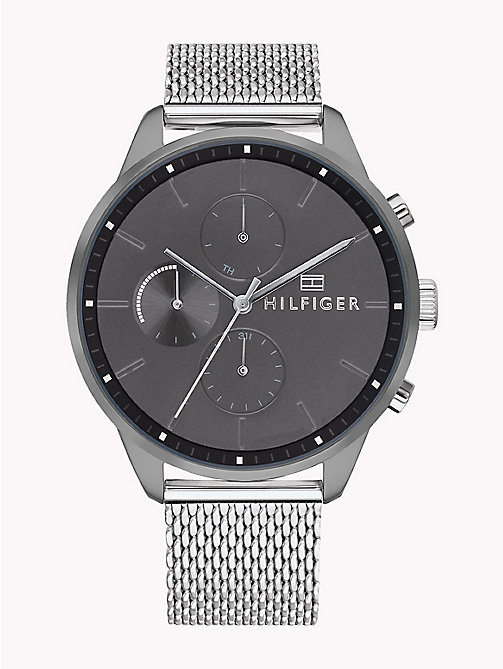 TOMMY HILFIGER Mesh Chain Dark Dial Watch - STAINLESS STEEL - TOMMY HILFIGER Watches & Jewelry - main image
