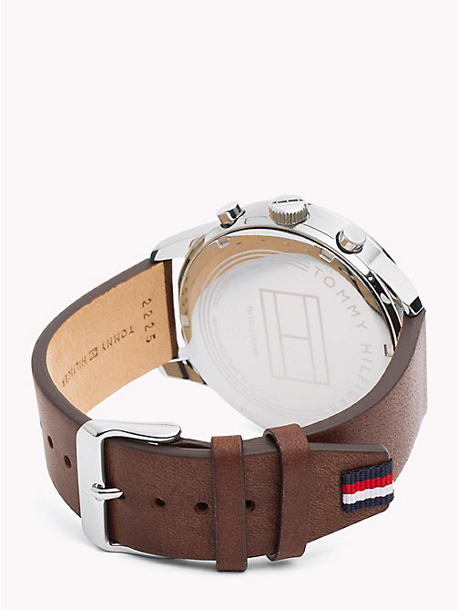 TOMMY HILFIGER Smooth Leather Strap Watch - BROWN - TOMMY HILFIGER Watches - detail image 1