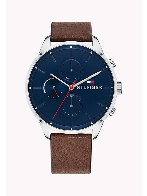 TOMMY HILFIGER Smooth Leather Strap Watch - BROWN - TOMMY HILFIGER Watches - main image