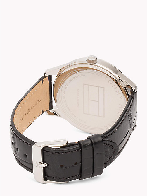 TOMMY HILFIGER Diamond Micro-Pattern Dial Watch - BLACK - TOMMY HILFIGER Watches - detail image 1