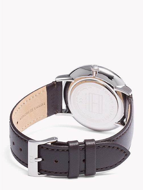 TOMMY HILFIGER Dual Dial Brown Strap Watch - BROWN - TOMMY HILFIGER Watches & Jewelry - detail image 1
