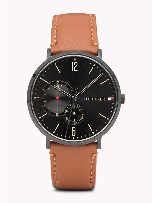 TOMMY HILFIGER Brooklyn Cognac Brown Watch - COGNAC BROWN - TOMMY HILFIGER Horloges - main image