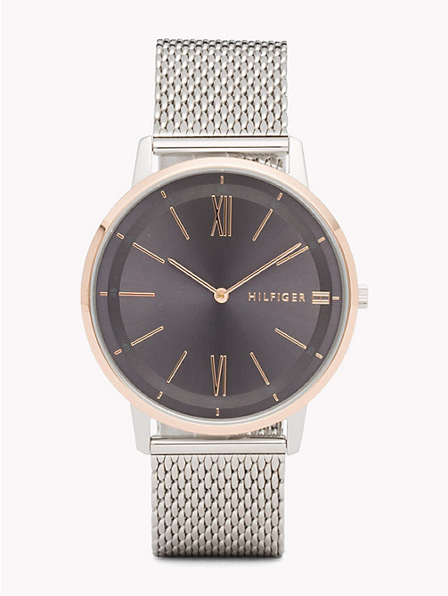 TOMMY HILFIGER Mesh Bracelet Watch - STAINLESS STEEL MESH - TOMMY HILFIGER Watches - main image