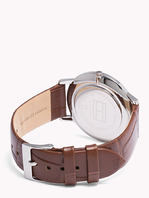 TOMMY HILFIGER Cooper Brown Strap Watch - BROWN - TOMMY HILFIGER Watches & Jewelry - detail image 1