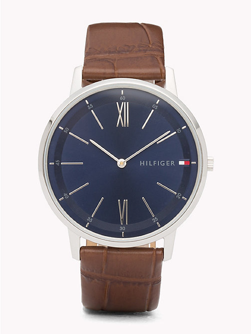 TOMMY HILFIGER Cooper Brown Strap Watch - BROWN - TOMMY HILFIGER Watches & Jewelry - main image