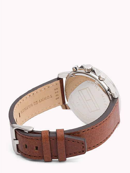 TOMMY HILFIGER Contrast Dial Brown Strap Watch - LIGHT BROWN - TOMMY HILFIGER Watches & Jewelry - detail image 1