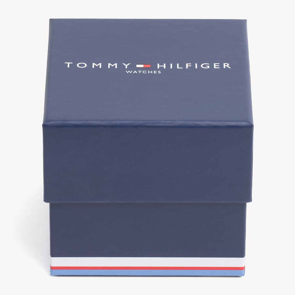 Tommy Hilfiger - Contrast Dial Brown Strap Watch - 4