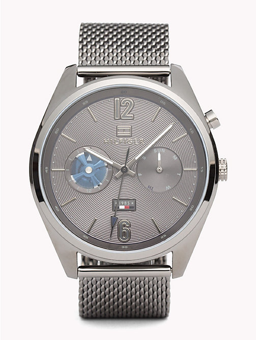 TOMMY HILFIGER Deacan Grey Steel Watch - IONIC PLATED GREY 2 STEEL - TOMMY HILFIGER Watches & Jewelry - main image