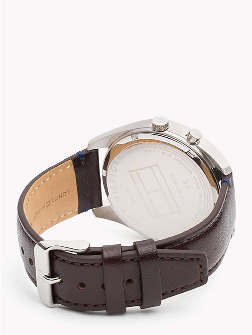 TOMMY HILFIGER Montre Deacan cuir marron - BROWN LEATHER - TOMMY HILFIGER Montres & Bijoux - image détaillée 1