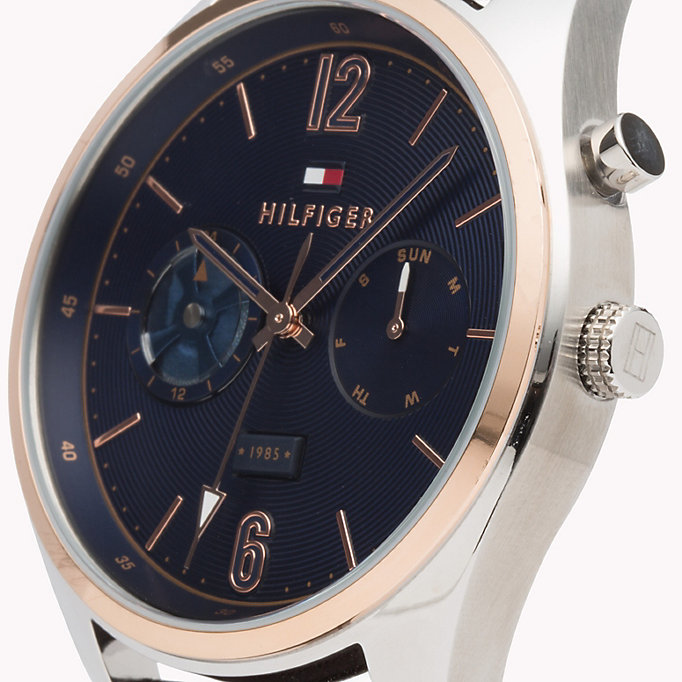 Deacan Brown Leather Watch | BROWN | Tommy Hilfiger