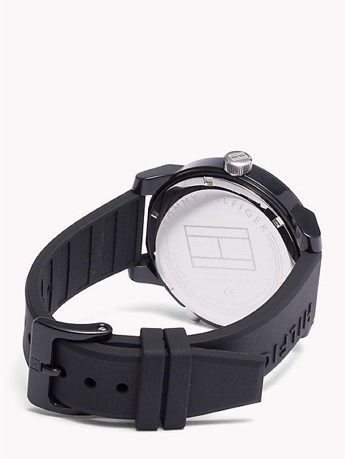 TOMMY HILFIGER Denim Black Silicone Watch - BLACK SILICONE - TOMMY HILFIGER Watches & Jewelry - detail image 1