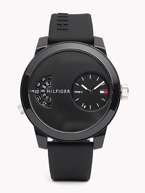 TOMMY HILFIGER Denim Black Silicone Watch - BLACK SILICONE - TOMMY HILFIGER Watches & Jewelry - main image