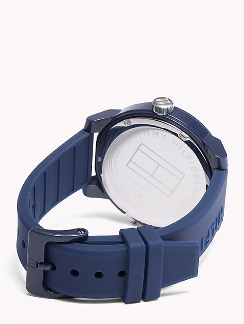 TOMMY HILFIGER Denim Blue Silicone Watch - BLUE SILICONE - TOMMY HILFIGER Watches & Jewelry - detail image 1