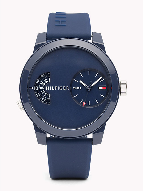 TOMMY HILFIGER Denim Blue Silicone Watch - BLUE SILICONE - TOMMY HILFIGER Watches & Jewelry - main image