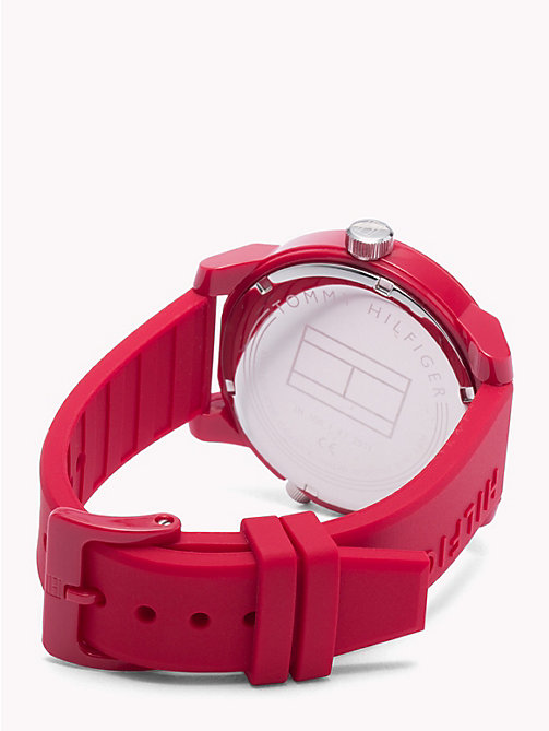 TOMMY HILFIGER Denim Red Silicone Watch - RED SILICONE - TOMMY HILFIGER Watches & Jewelry - detail image 1