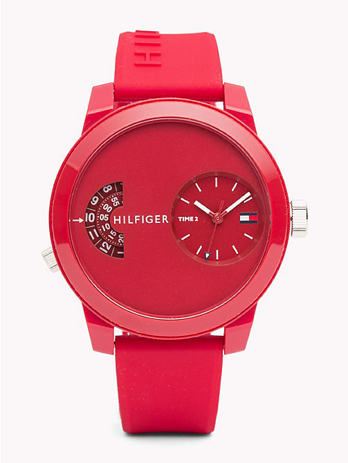 TOMMY HILFIGER Denim Red Silicone Watch - RED SILICONE - TOMMY HILFIGER Watches & Jewelry - main image