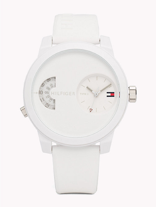 TOMMY HILFIGER Denim White Silicone Watch - WHITE SILICONE - TOMMY HILFIGER Watches - main image
