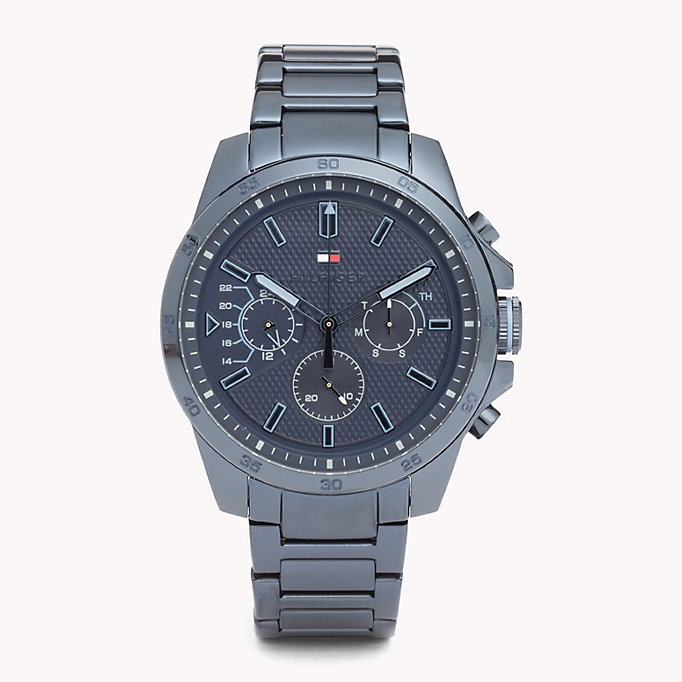 blue blue steel watch for men tommy hilfiger