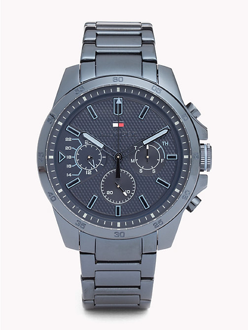 TOMMY HILFIGER Decker Blue Steel Watch - IONIC PLATED BLUE STEEL - TOMMY HILFIGER Watches & Jewelry - main image