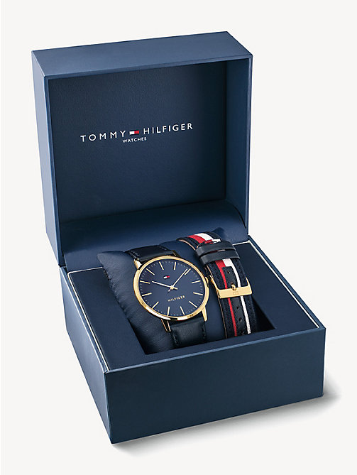 Men S Watches Leather Strap Watches Tommy Hilfiger Uk
