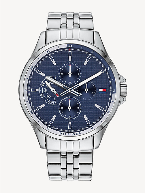 9b4ae9aa515c23 TOMMY HILFIGERMultifunctioneel horloge met blauwe wijzerplaat