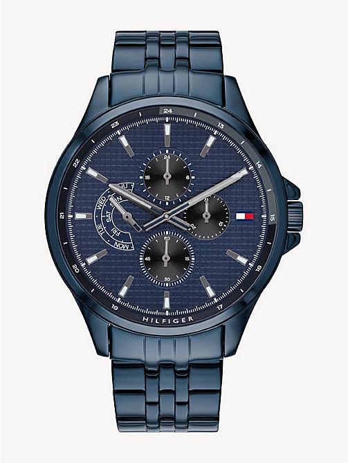 b8de312b20a04 TOMMY HILFIGERBlue Ion Plated Steel Watch