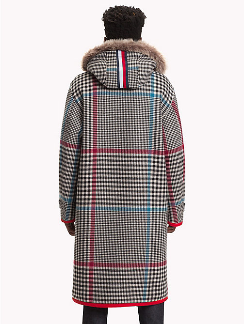 HILFIGER COLLECTION Check Hooded Long Coat - BARBADOS CHERRY - HILFIGER COLLECTION TOMMY NOW MEN - detail image 1