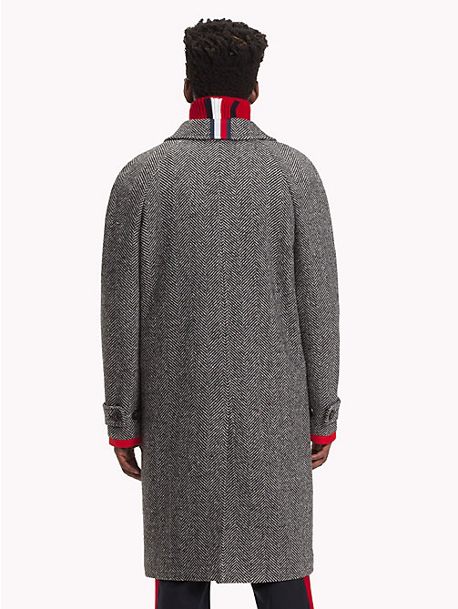 HILFIGER COLLECTION Herringbone Single-breasted Coat - SILVER FOG HEATHER - HILFIGER COLLECTION TOMMY NOW MEN - detail image 1