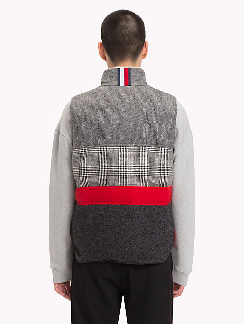 HILFIGER COLLECTION Patchwork Down Gilet - SILVER FOG HEATHER -  TOMMY NOW MEN - detail image 1