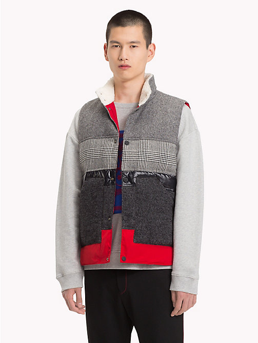HILFIGER COLLECTION Patchwork Down Gilet - SILVER FOG HEATHER -  TOMMY NOW MEN - main image
