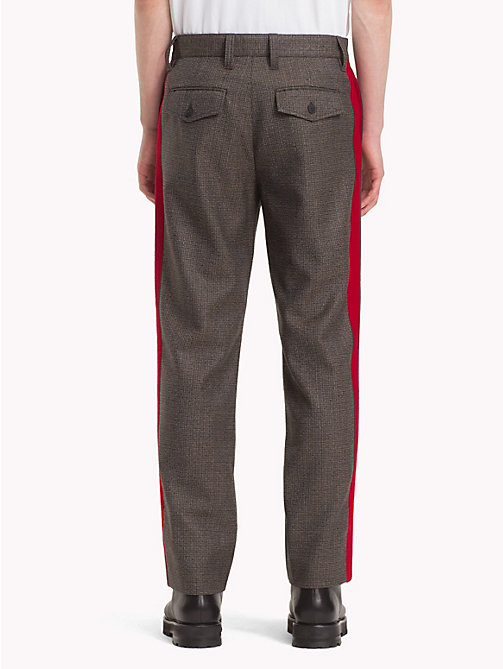 HILFIGER COLLECTION Houndstooth Check Wool Trousers - DESERT TAUPE -  TOMMY NOW MEN - detail image 1