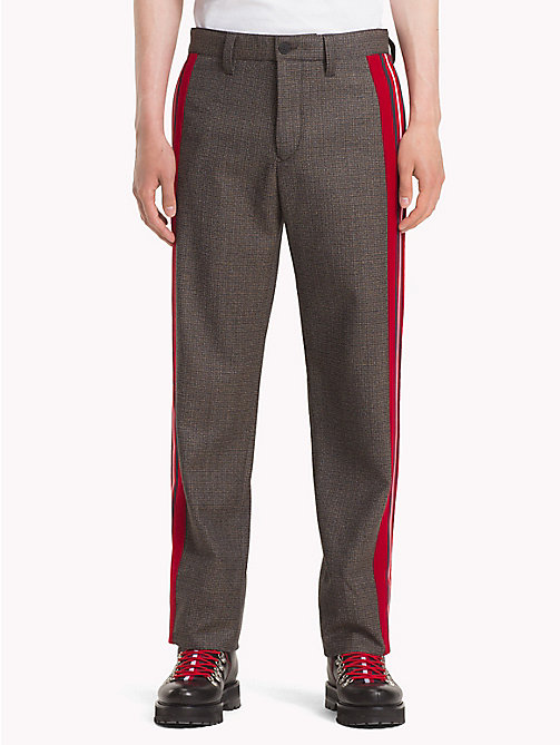 HILFIGER COLLECTION Houndstooth Check Wool Trousers - DESERT TAUPE -  TOMMY NOW MEN - main image