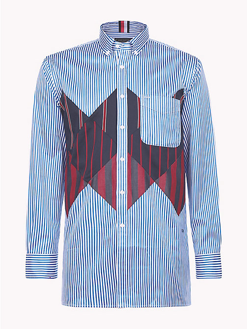 HILFIGER COLLECTION Patchwork Shirt - REGATTA / BW / MULTI -  TOMMY NOW MEN - detail image 1