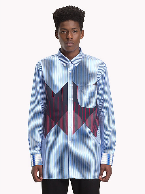 HILFIGER COLLECTION Camisa con diseño de patchwork - REGATTA / BW / MULTI - HILFIGER COLLECTION TOMMY NOW HOMBRE - imagen principal