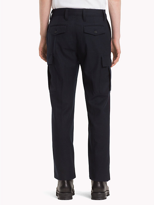 HILFIGER COLLECTION Wool Cargo Trousers - DEEP WELL - HILFIGER COLLECTION TOMMY NOW MEN - detail image 1