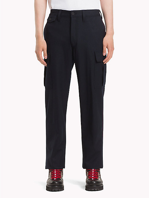 HILFIGER COLLECTION Wool Cargo Trousers - DEEP WELL - HILFIGER COLLECTION TOMMY NOW MEN - main image