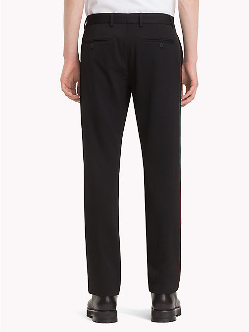 HILFIGER COLLECTION Formal Pure Wool Trousers - JET BLACK - HILFIGER COLLECTION TOMMY NOW MEN - detail image 1